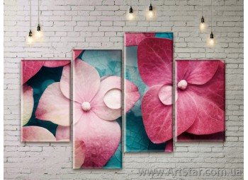 Модульные Картины Цветы, Art. FLWM0065