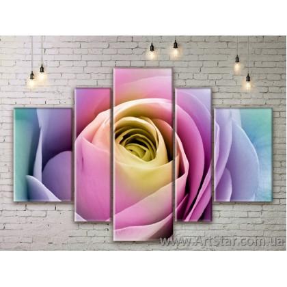 Модульные Картины Цветы, Art. FLWM0073