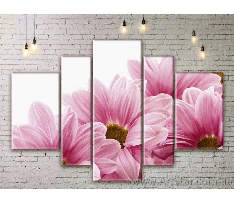 Модульные Картины Цветы, Art. FLWM0085