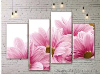 Модульные Картины Цветы, Art. FLWM0089