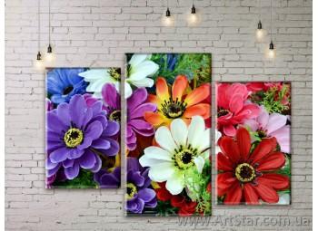 Модульные Картины Цветы, Art. FLWM0099