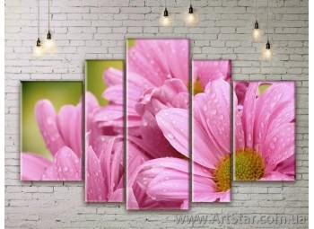 Модульные Картины Цветы, Art. FLWM0109