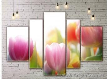Модульные Картины Цветы, Art. FLWM0115