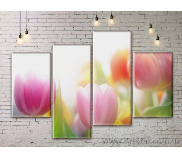 Модульные Картины Цветы, Art. FLWM0119