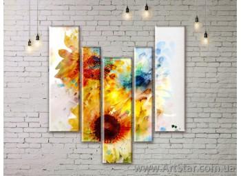Модульные Картины Цветы, Art. FLWM0125