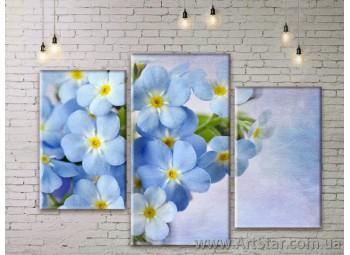 Модульные Картины Цветы, Art. FLWM0147