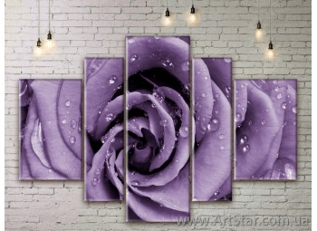 Модульные Картины Цветы, Art. FLWM0151