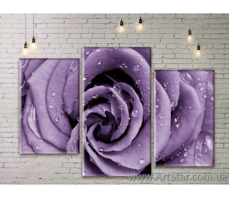 Модульные Картины Цветы, Art. FLWM0153