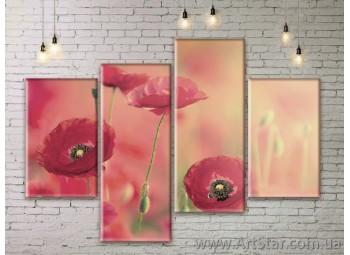Модульные Картины Цветы, Art. FLWM0169