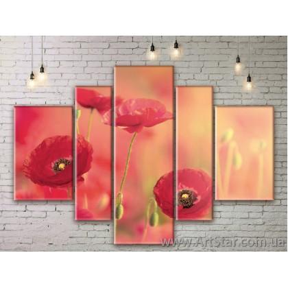 Модульные Картины Цветы, Art. FLWM0171