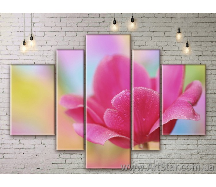 Модульные Картины Цветы, Art. FLWM0177