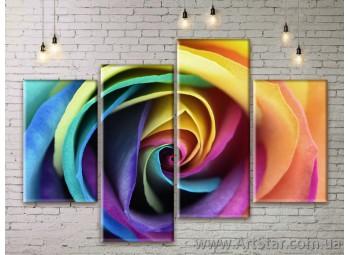 Модульные Картины Цветы, Art. FLWM0183