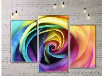Модульные Картины Цветы, Art. FLWM0185