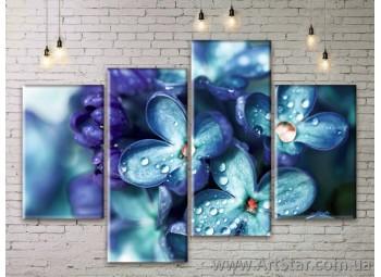 Модульные Картины Цветы, Art. FLWM0187