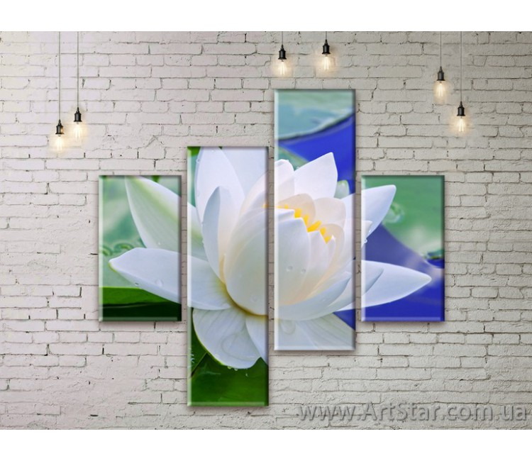 Модульные Картины Цветы, Art. FLWM0195