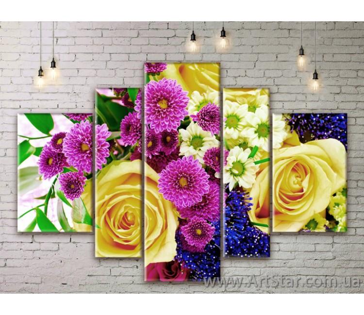 Модульные Картины Цветы, Art. FLWM0255