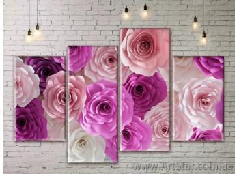 Модульные Картины Цветы, Art. FLWM0259