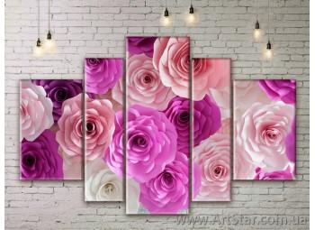 Модульные Картины Цветы, Art. FLWM0261