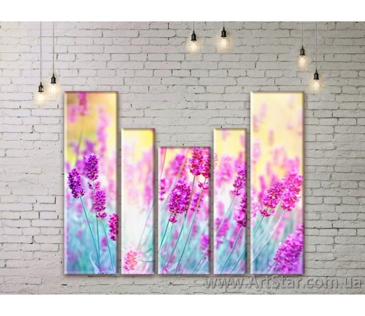 Модульные Картины Цветы, Art. FLWM0269