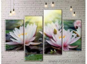 Модульные Картины Цветы, Art. FLWM0271