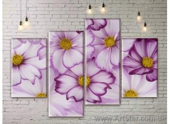 Модульные Картины Цветы, Art. FLWM0277