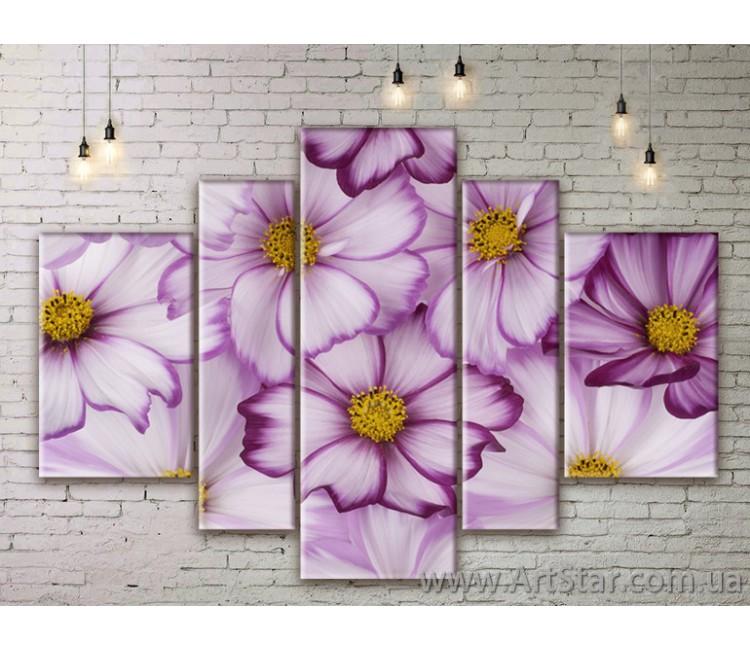 Модульные Картины Цветы, Art. FLWM0279