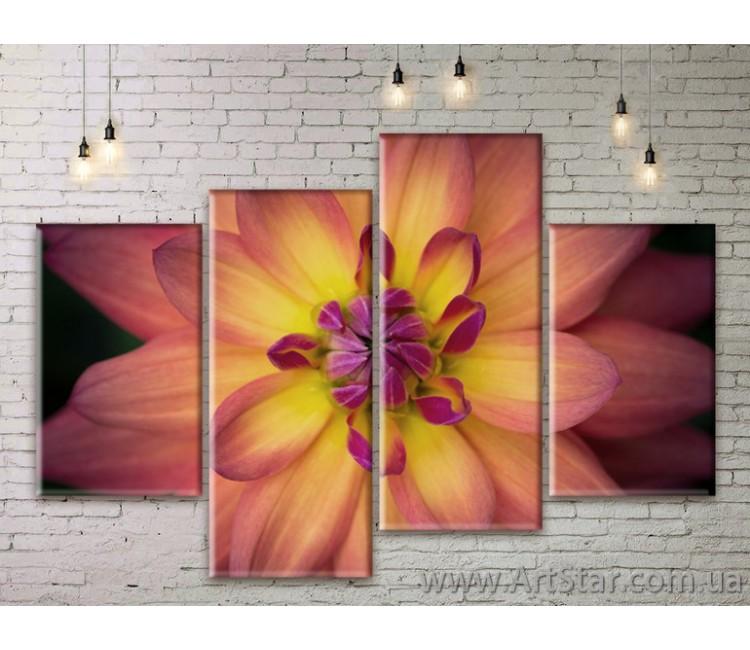 Модульные Картины Цветы, Art. FLWM0289