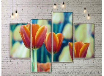 Модульные Картины Цветы, Art. FLWM0313