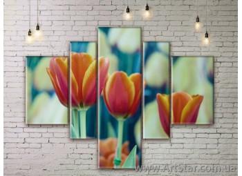 Модульные Картины Цветы, Art. FLWM0315