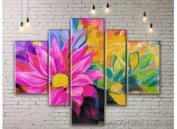 Модульные Картины Цветы, Art. FLWM0321