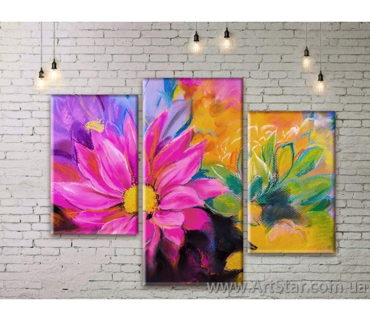Модульные Картины Цветы, Art. FLWM0323