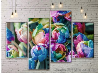 Модульные Картины Цветы, Art. FLWM0325
