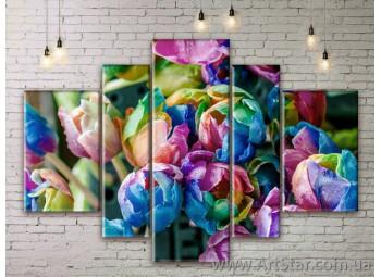 Модульные Картины Цветы, Art. FLWM0327