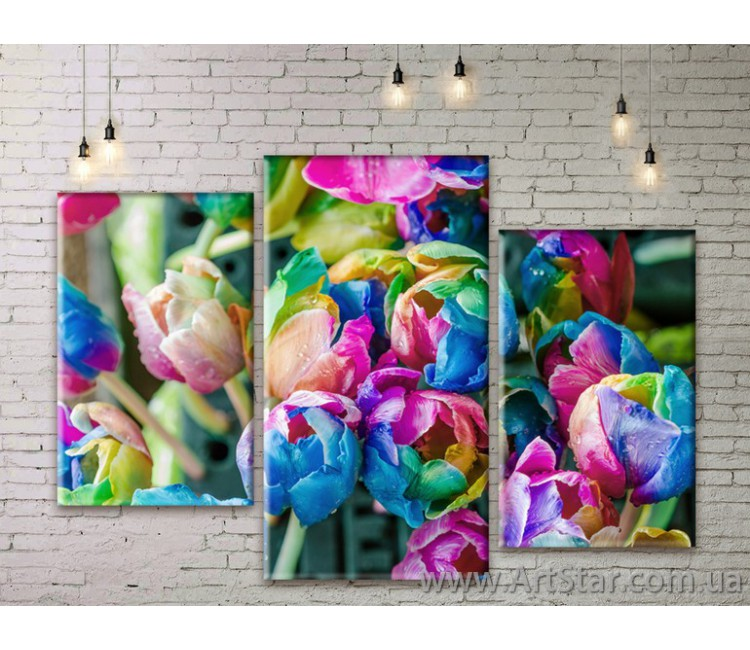 Модульные Картины Цветы, Art. FLWM0329