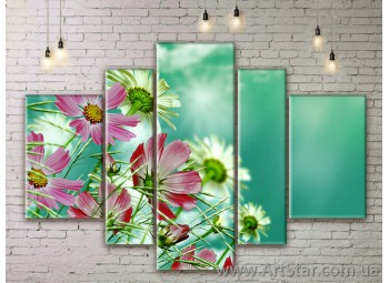 Модульные Картины Цветы, Art. FLWM0333