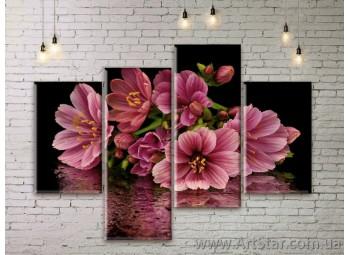 Модульные Картины Цветы, Art. FLWM0337
