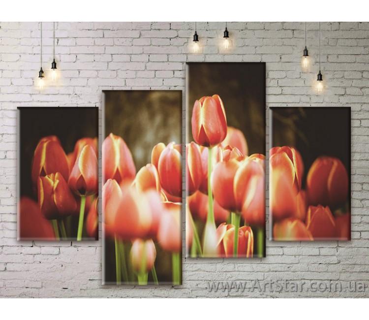 Модульные Картины Цветы, Art. FLWM0349