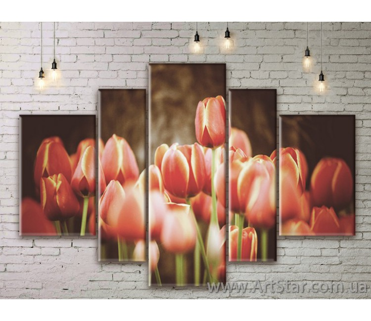 Модульные Картины Цветы, Art. FLWM0351