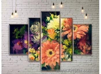 Модульные Картины Цветы, Art. FLWM0363