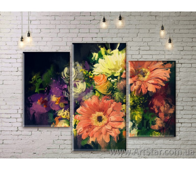Модульные Картины Цветы, Art. FLWM0365