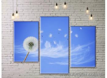Модульные Картины Цветы, Art. FLWM0371