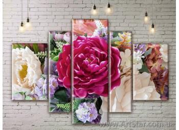 Модульные Картины Цветы, Art. FLWM0379