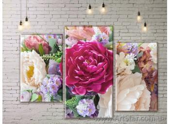 Модульные Картины Цветы, Art. FLWM0381