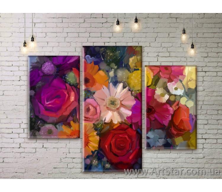 Модульные Картины Цветы, Art. FLWM0387