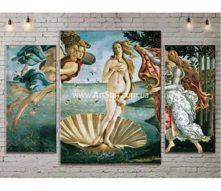 Модульная картина, Рождение Венеры, ART. KLAA777003