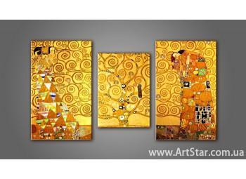 Модульная картина Климт Поцелуй