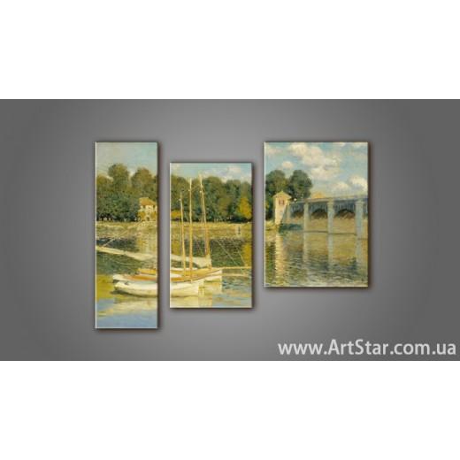 Модульная картина Клод Моне