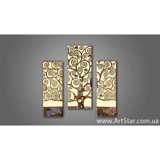 Модульная картина Климт Дерево