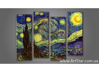 Модульная картина Ван Гог (4) 2