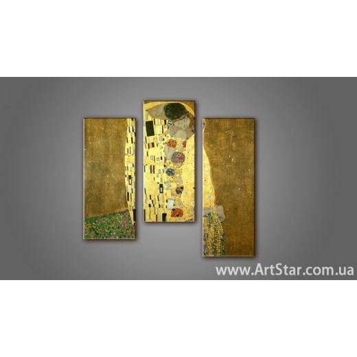 Модульная картина Климт Поцелуй 2